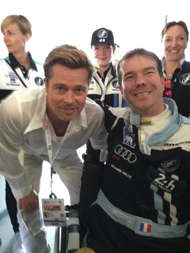 Avec Brad Pitt